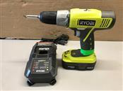 "RYOBI P271 ONE+ 18-Volt Lithium+ 1/2"" Cordless Drill/Driver Kit"